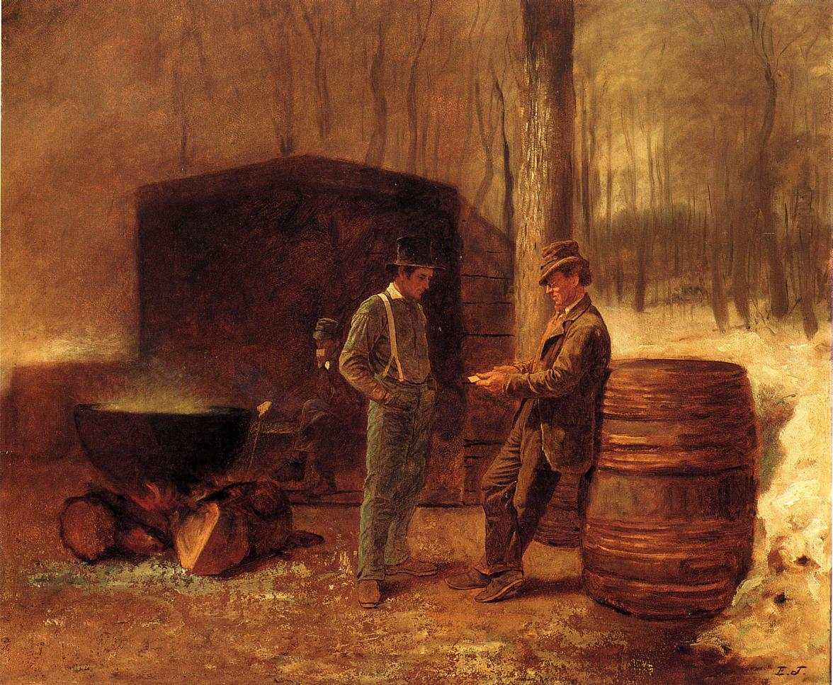 Measurement and Contemplation  1861-1863 | Eastman Johnson | Oil Painting