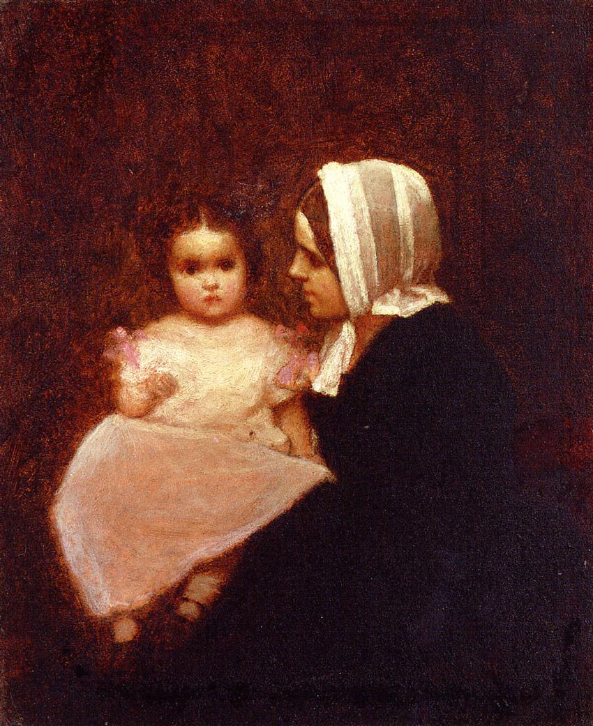 Mother and Child | Eastman Johnson | Oil Painting
