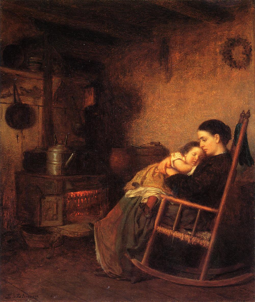 Mother and Child  1869 | Eastman Johnson | Oil Painting