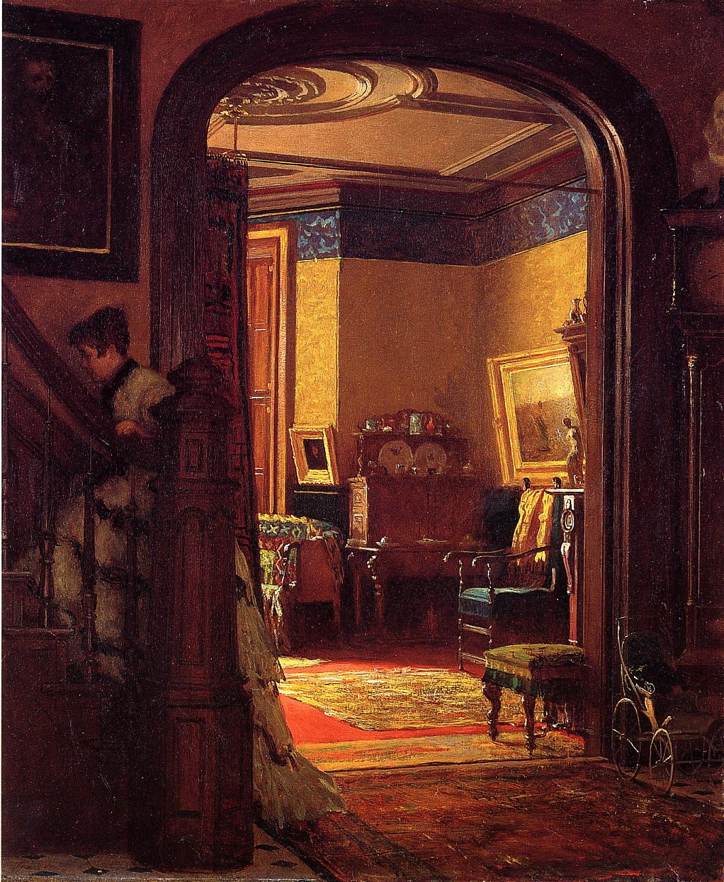 Not at Home  1873 | Eastman Johnson | Oil Painting