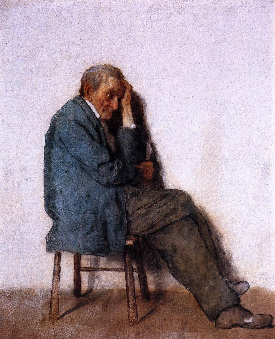 Old Man Seated  1880-1885 | Eastman Johnson | Oil Painting