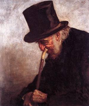 Portrait of Captain Charles Myrick (Study for Embers)  1879 | Eastman Johnson | Oil Painting