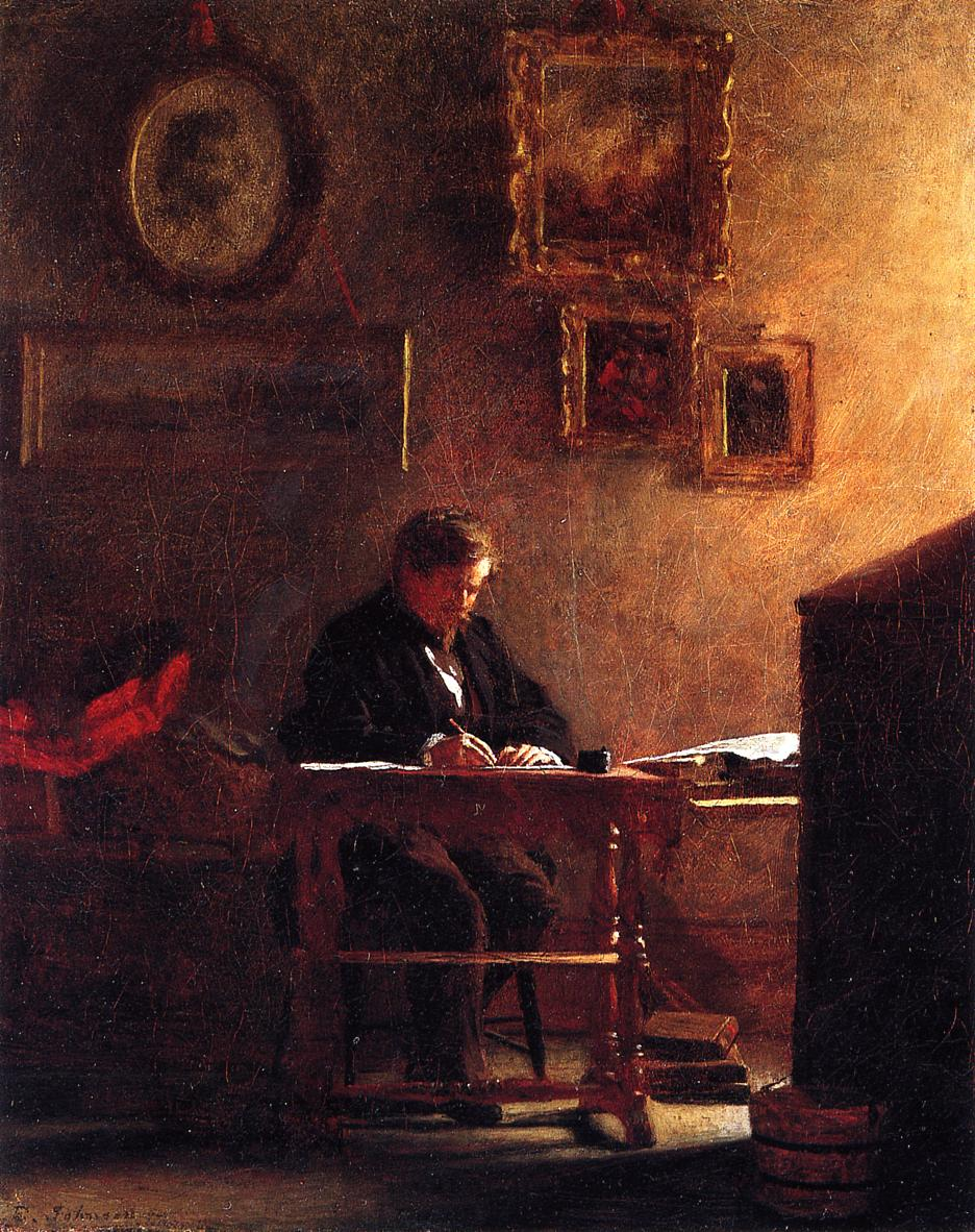 Self Portrait  1860 | Eastman Johnson | Oil Painting