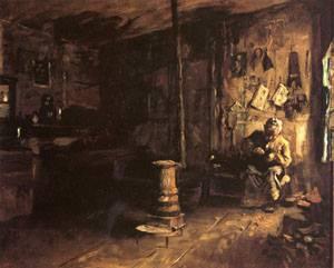 Shoemaker Habertys Shop  1887 | Eastman Johnson | Oil Painting