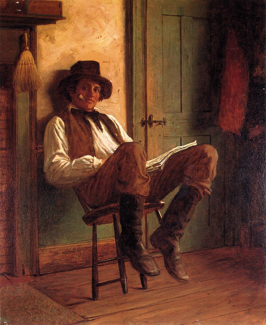 Sunday Morning (aka The Evening Paper)  1863   Eastman Johnson   Oil Painting