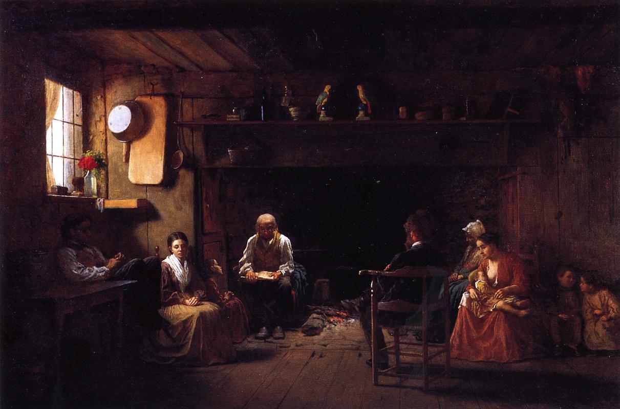 Sunday Morning  1866 | Eastman Johnson | Oil Painting