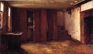 Susan Rays Kitchen - Nantucket  1875 | Eastman Johnson | Oil Painting