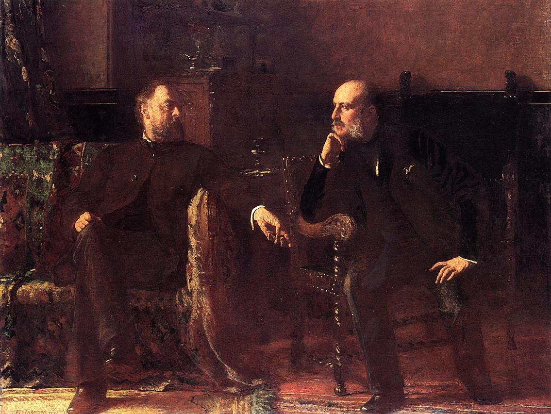 The Funding Bill - Portrait of Two Men  1881 | Eastman Johnson | Oil Painting
