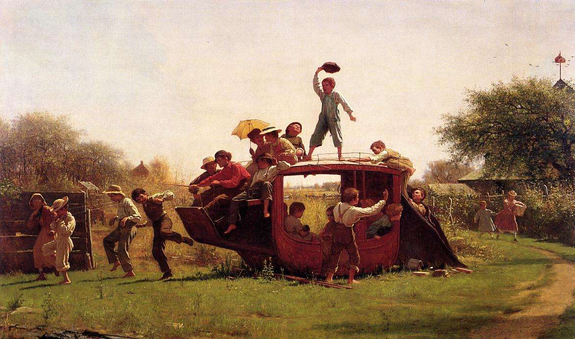The Old Stage Coach  1871 | Eastman Johnson | Oil Painting