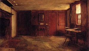 The Other Side of Susan Rays Kitchen - Nantucket  1875 | Eastman Johnson | Oil Painting