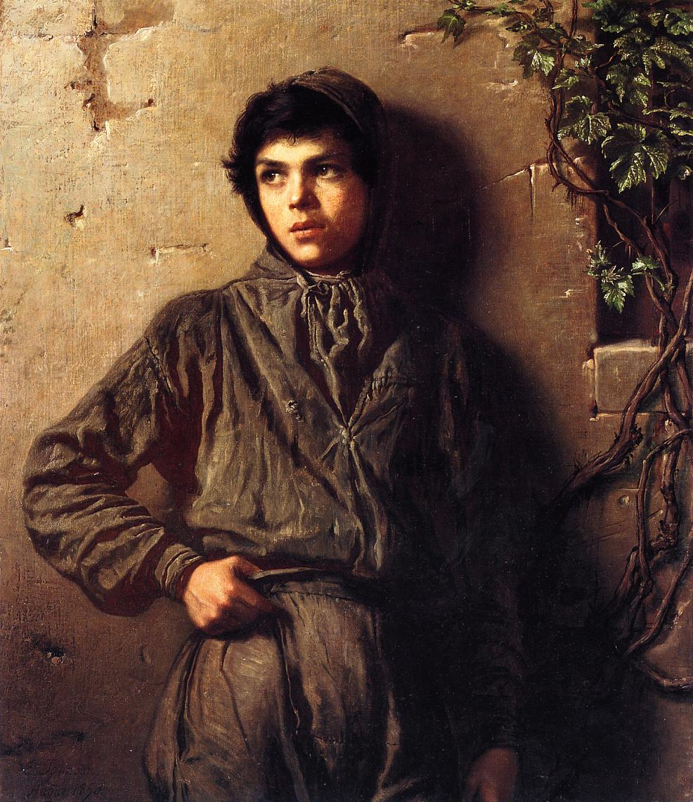 The Savoyard Boy  1853 | Eastman Johnson | Oil Painting