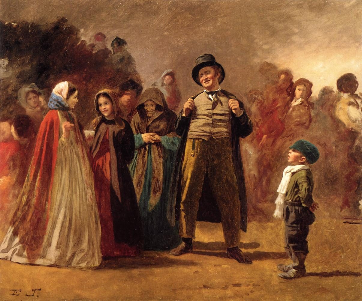 The Story Teller of the Camp  1861-1866 | Eastman Johnson | Oil Painting