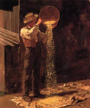 Winnowing Grain  1877-1879 | Eastman Johnson | Oil Painting