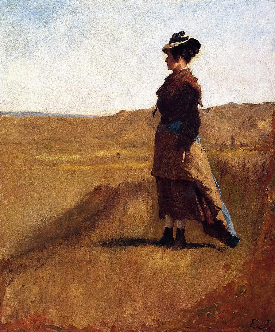 Woman on a Hill  1875-1880 | Eastman Johnson | Oil Painting