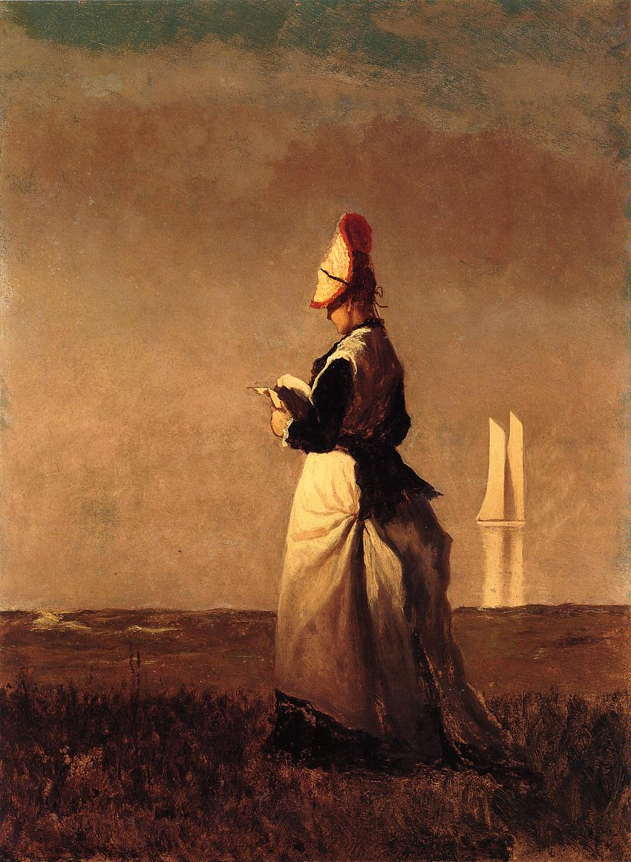 Woman Reading  1874 | Eastman Johnson | Oil Painting
