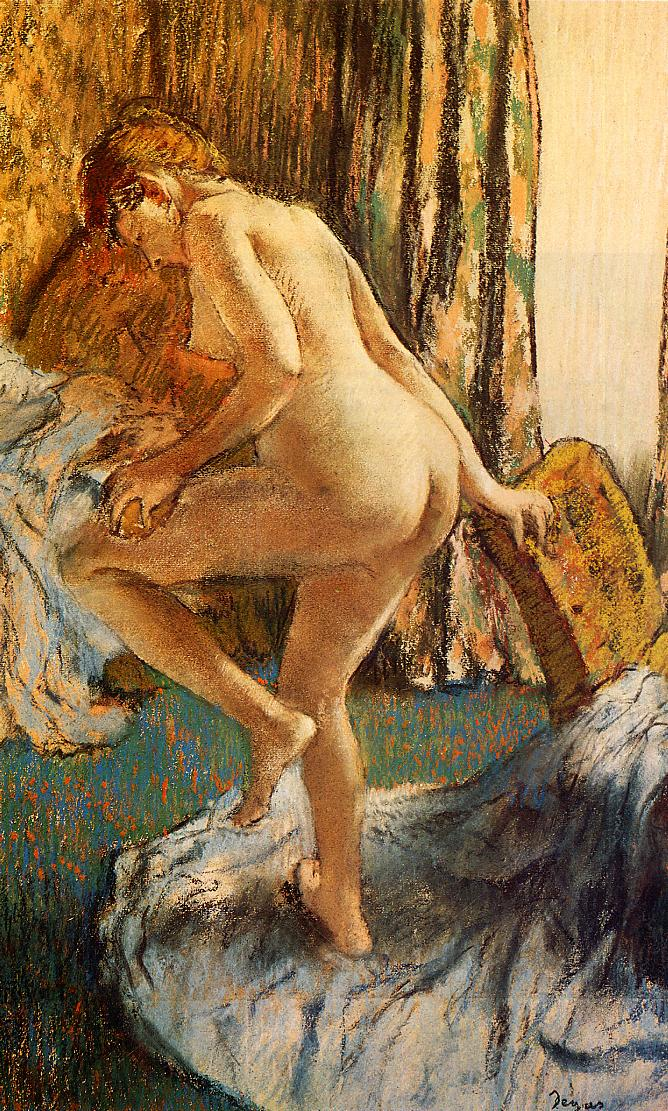 After the Bath 1883 | Edgar Degas | Oil Painting