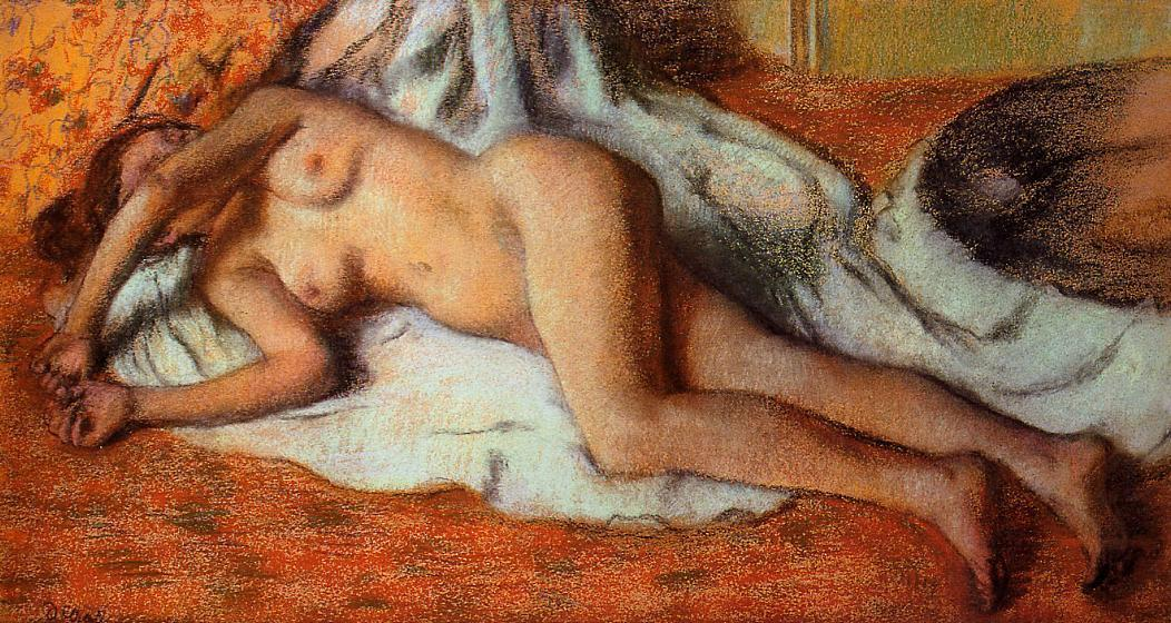 After the Bath 1885 | Edgar Degas | Oil Painting