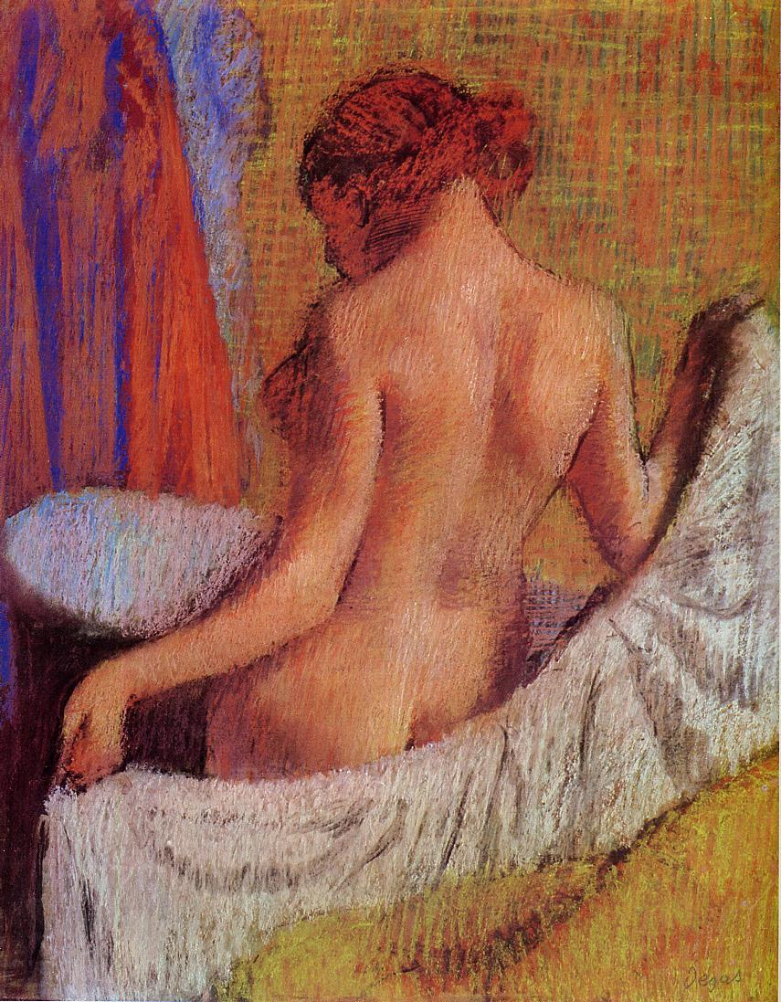 After the Bath 1890-1895 | Edgar Degas | Oil Painting