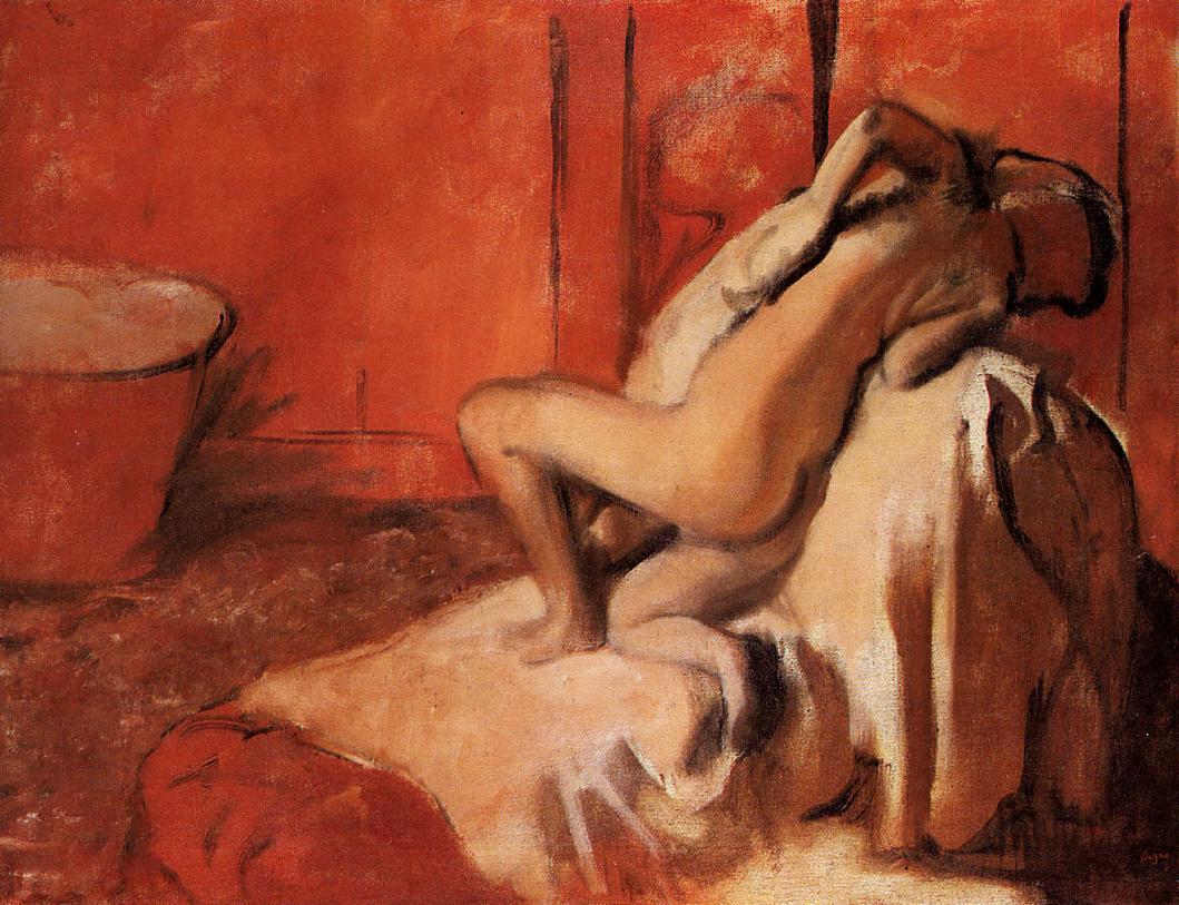 After the Bath 1896 | Edgar Degas | Oil Painting
