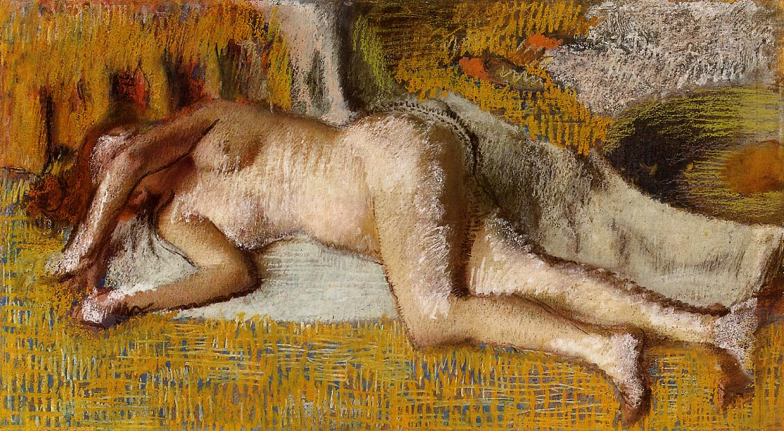 After the Bath 2 1885 | Edgar Degas | Oil Painting