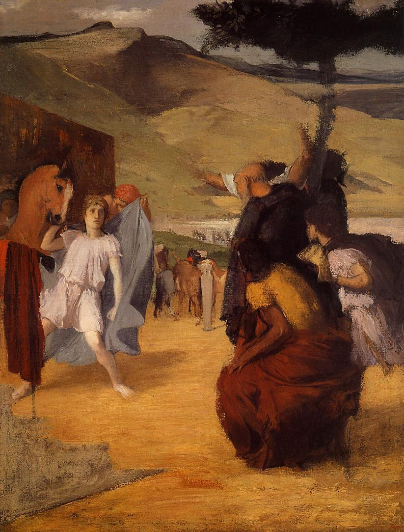 Alexander and Bucephalus 1859-1861 | Edgar Degas | Oil Painting