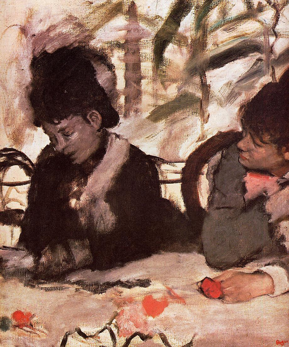 At the Cafe 1877 | Edgar Degas | Oil Painting