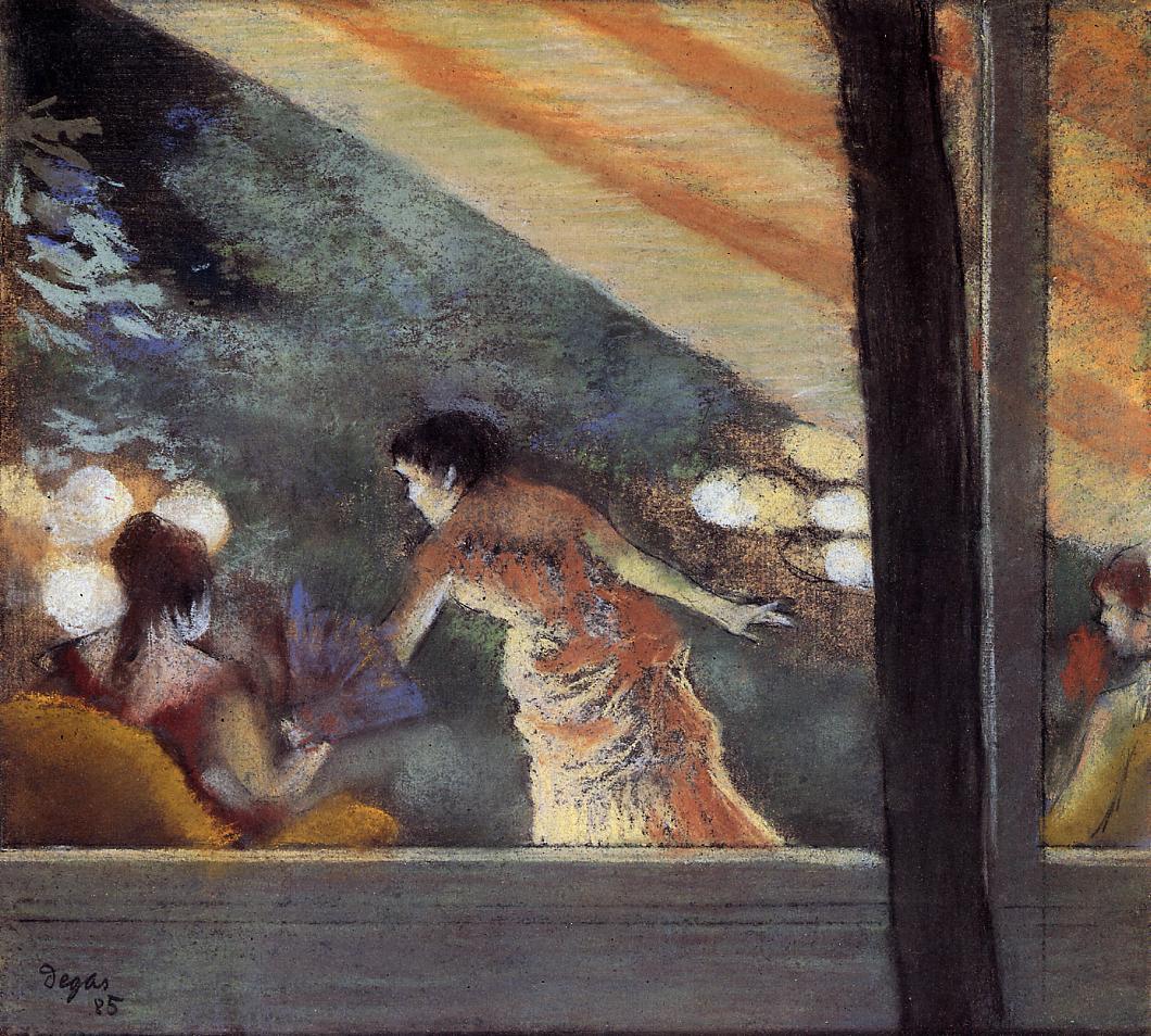At the Cafe des Ambassadeurs 1885   Edgar Degas   Oil Painting