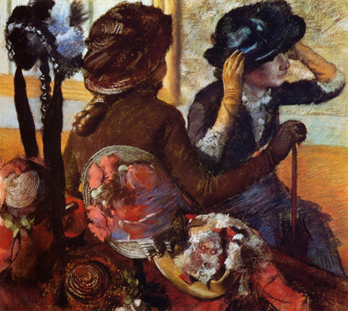 At the Milliners 1882   Edgar Degas   Oil Painting