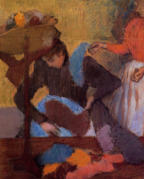 At the Milliners 1905-1910   Edgar Degas   Oil Painting