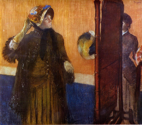 At the Milliners 2 1882   Edgar Degas   Oil Painting