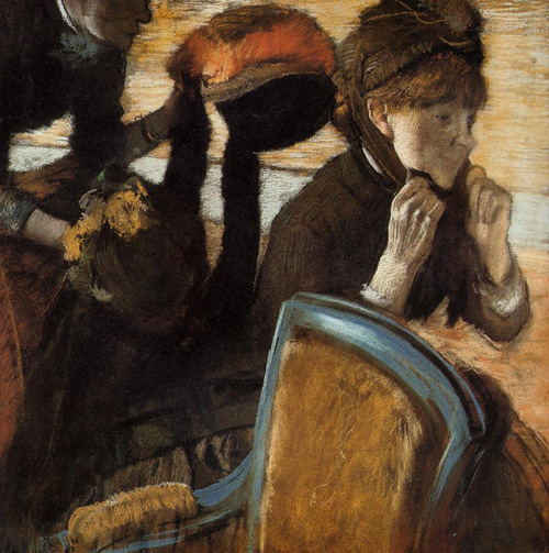 At the Milliners 3 1882   Edgar Degas   Oil Painting