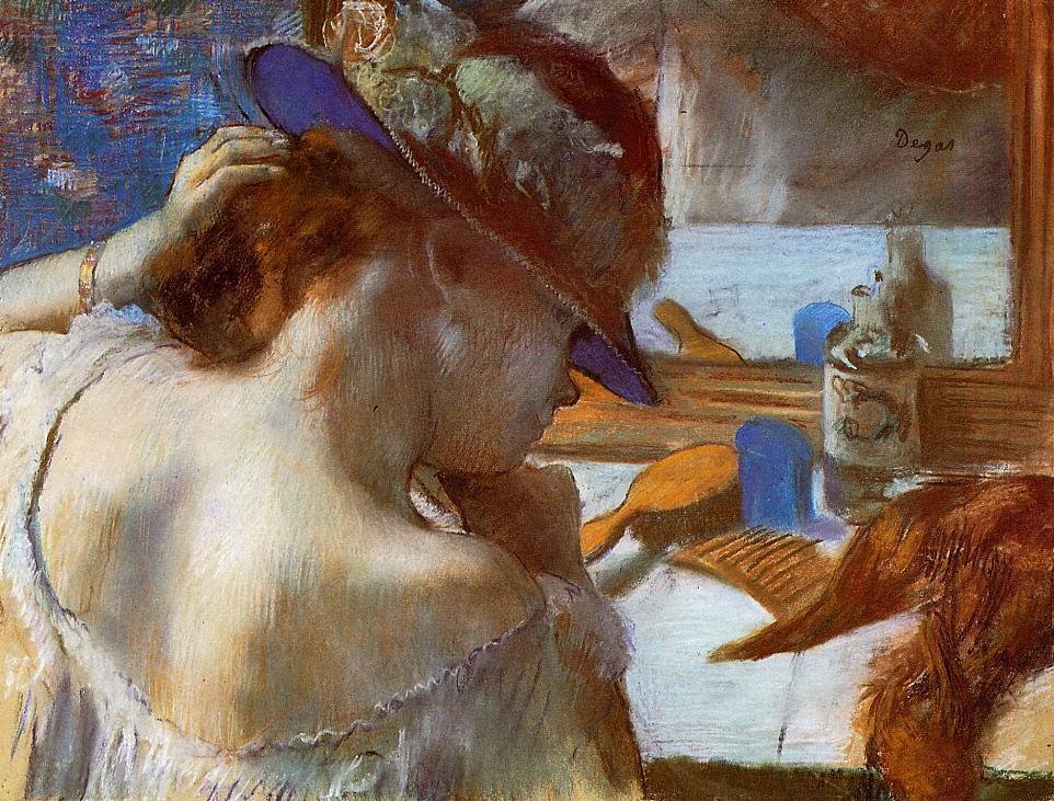 At the Mirror 1889 | Edgar Degas | Oil Painting