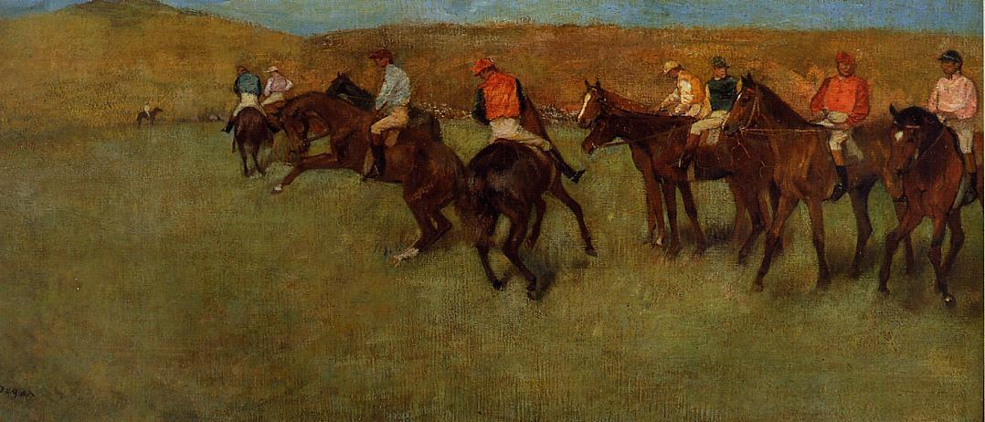 At the Races - Before the Start 1885-1892 | Edgar Degas | Oil Painting