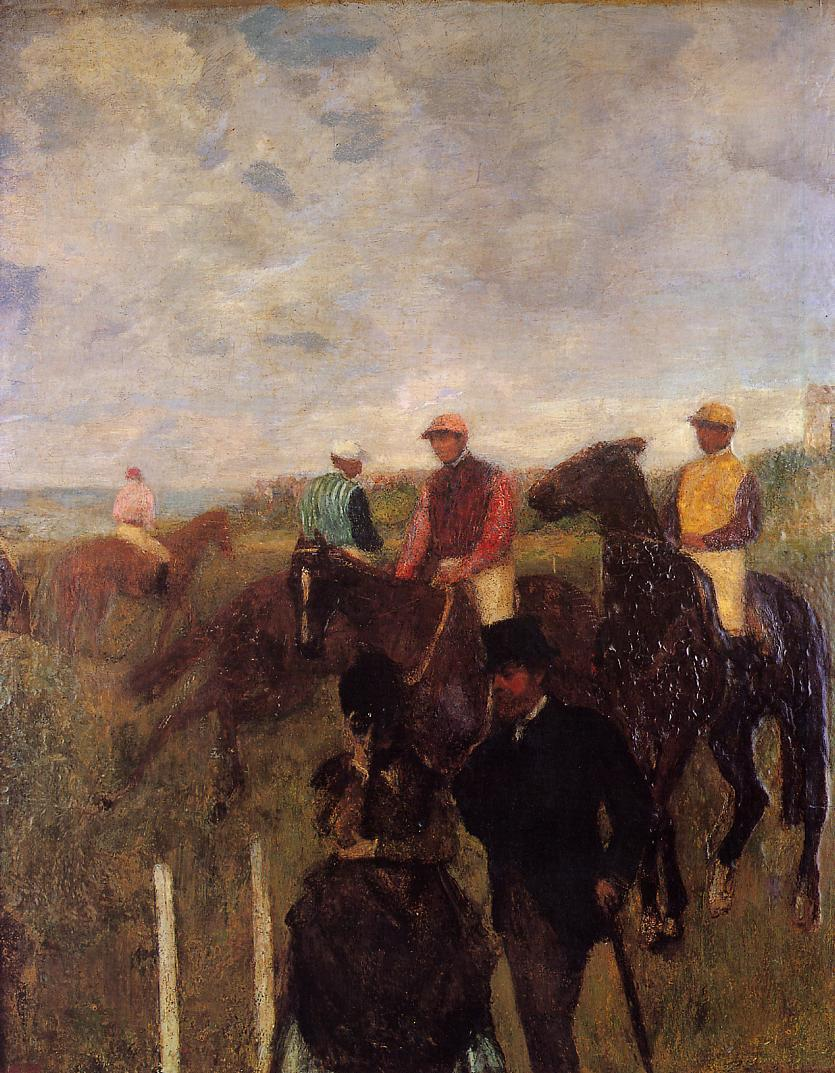 At the Races 1868-1872 | Edgar Degas | Oil Painting