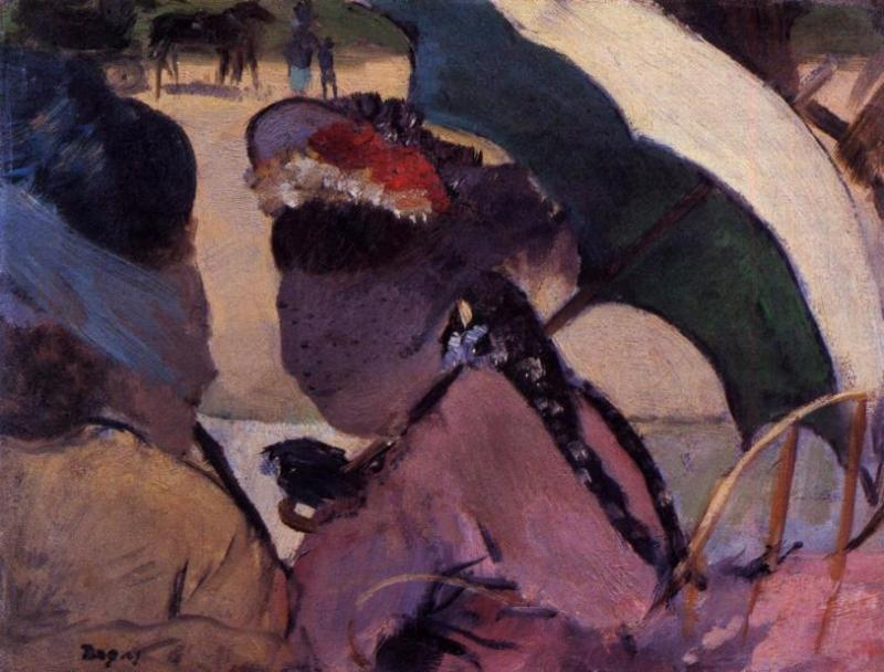 At the Races 1876-1877   Edgar Degas   Oil Painting