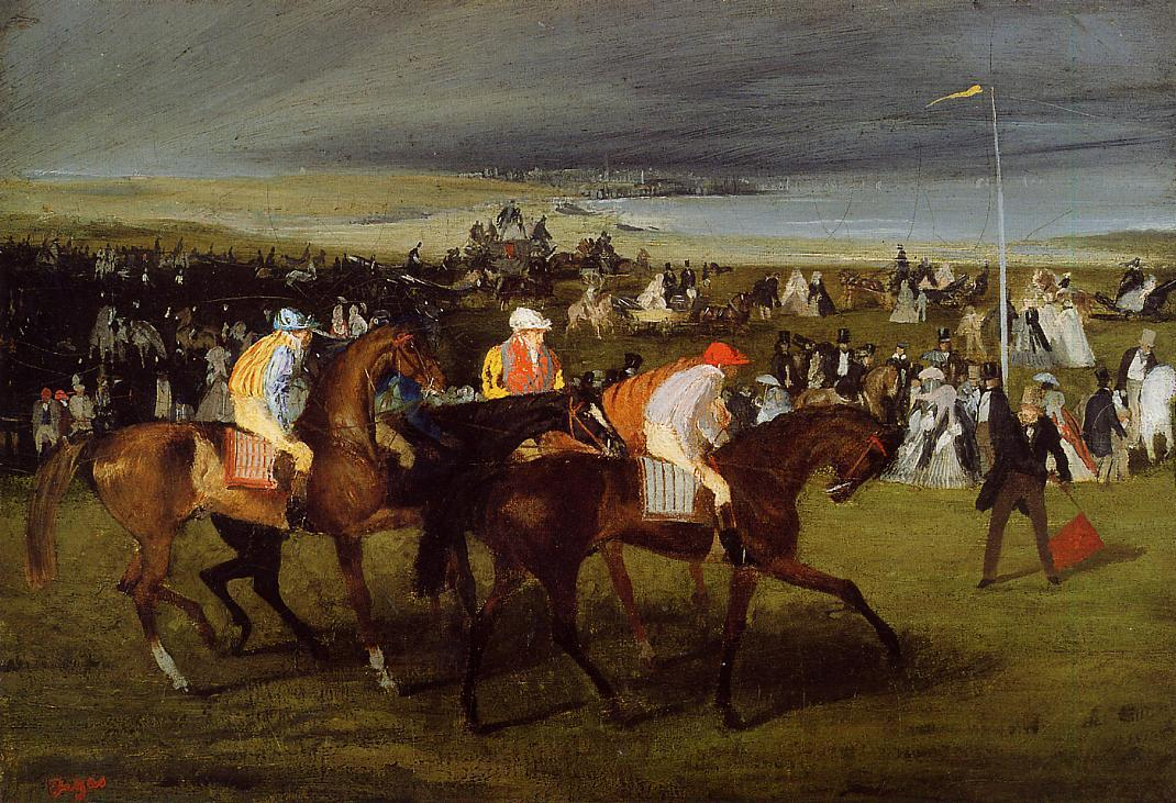 At the Races the Start 1861-1862 | Edgar Degas | Oil Painting