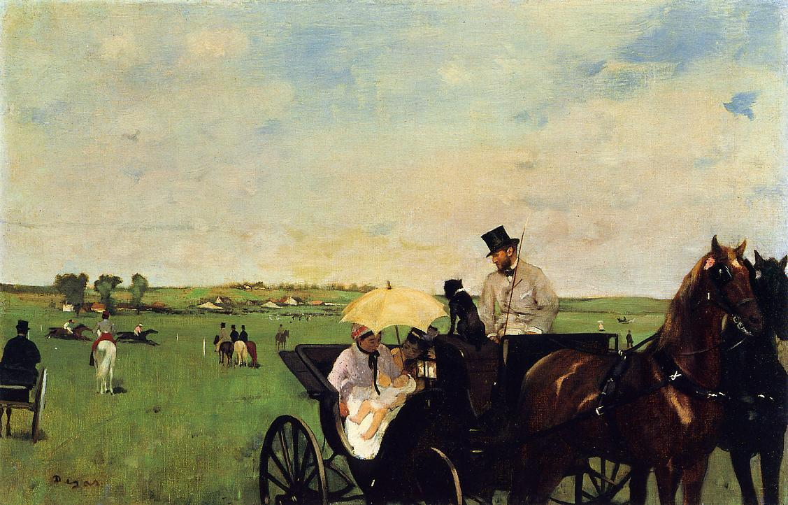 A Carriage at the Races 1872 | Edgar Degas | Oil Painting
