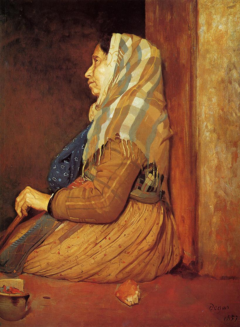 A Roman Beggar Woman 1857 | Edgar Degas | Oil Painting