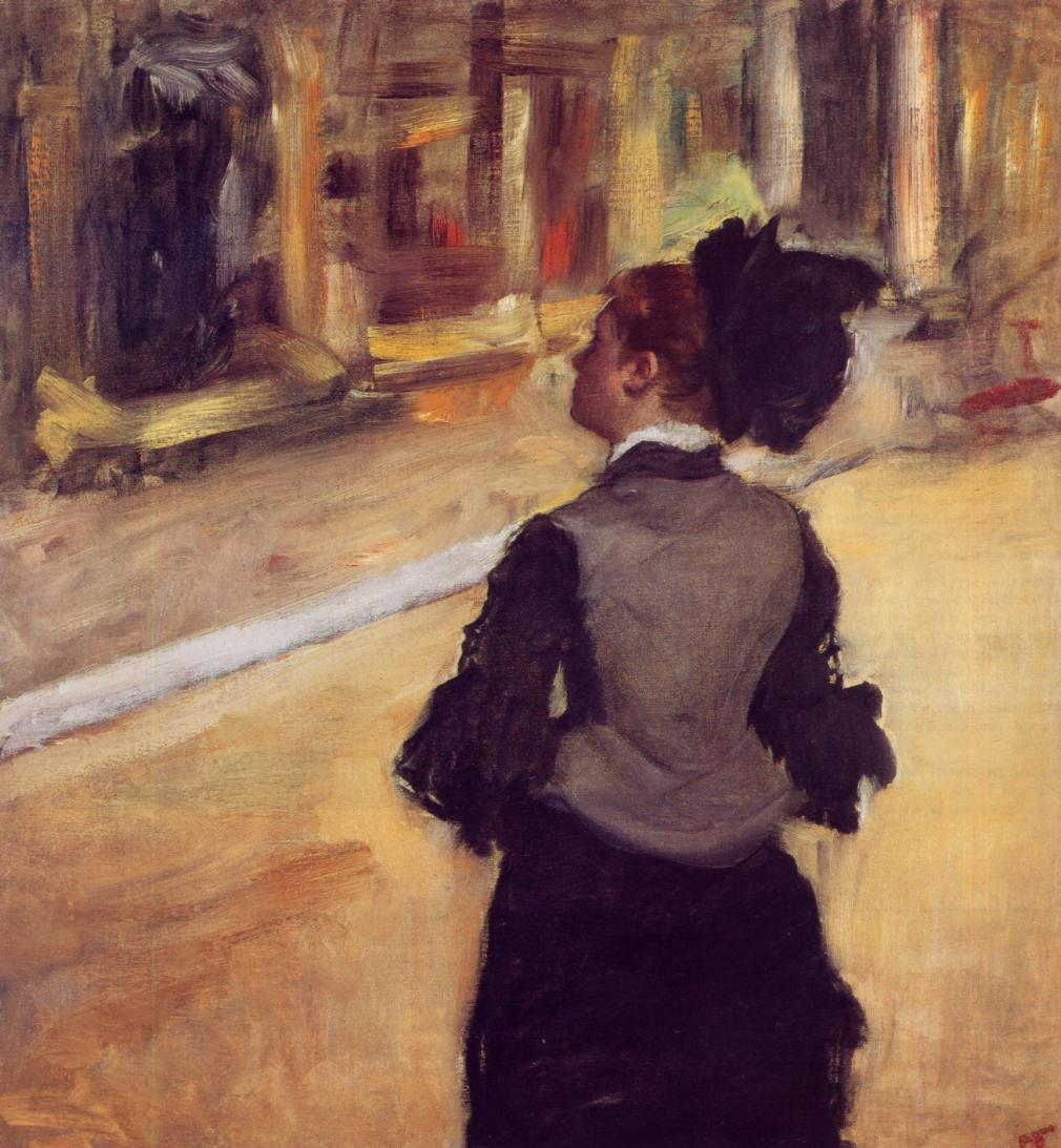 A Visit to the Museum 1885 | Edgar Degas | Oil Painting