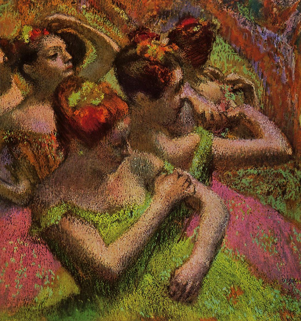 Ballerinas Adjusting Their Dresses 1899 | Edgar Degas | Oil Painting