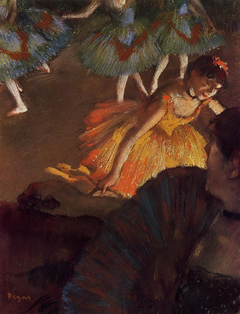 Ballerina and Lady with a Fan 1885 | Edgar Degas | Oil Painting