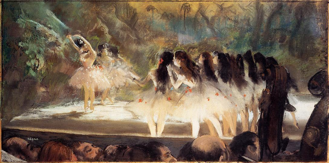 Ballet at the Paris Opers 1877 | Edgar Degas | Oil Painting