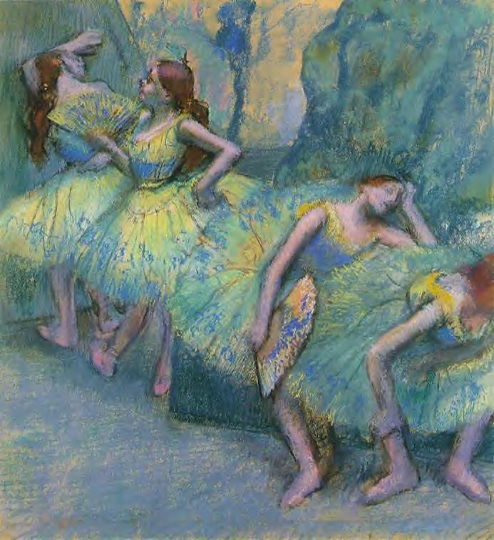 Ballet Dancers in the Wings 1900 | Edgar Degas | Oil Painting