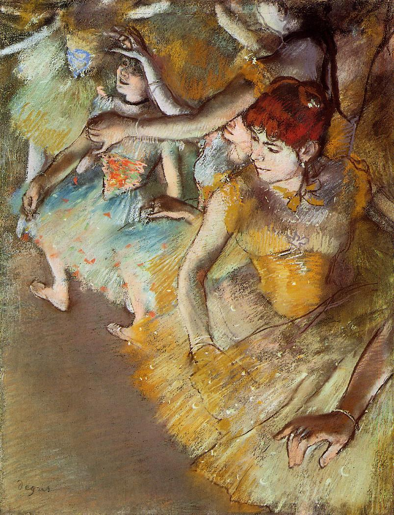 Ballet Dancers on the Stage 1883 | Edgar Degas | Oil Painting