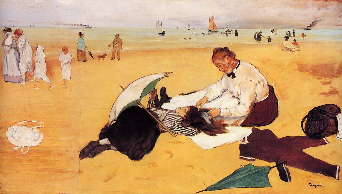 Beach Scene 1876 | Edgar Degas | Oil Painting