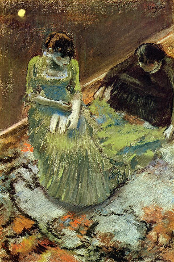 Before the Curtain Call 1892 | Edgar Degas | Oil Painting