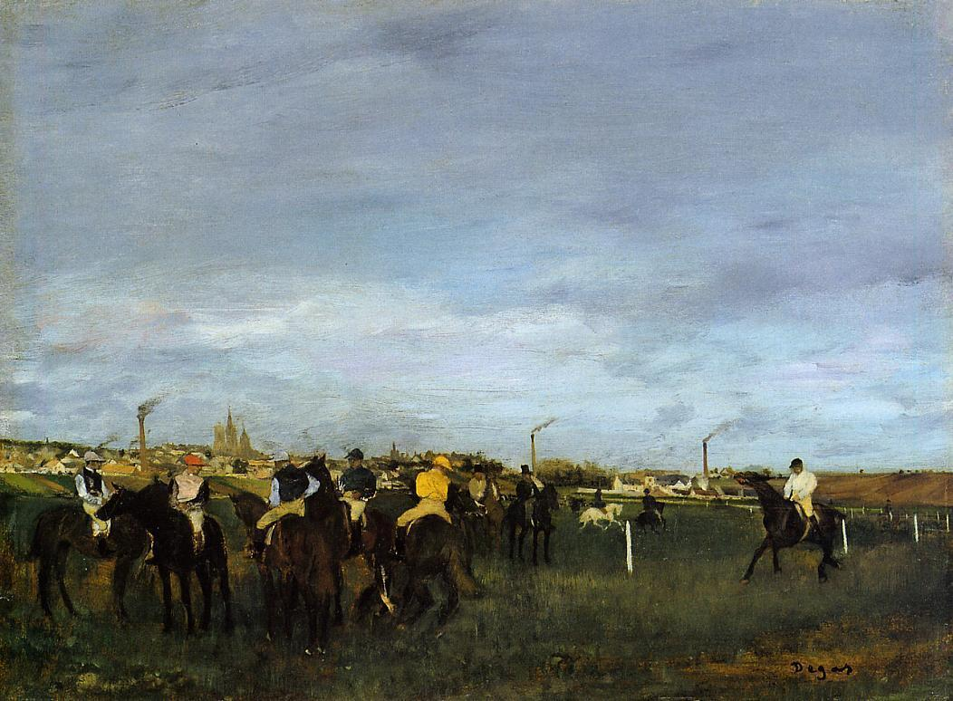 Before the Race 1871-1872 | Edgar Degas | Oil Painting