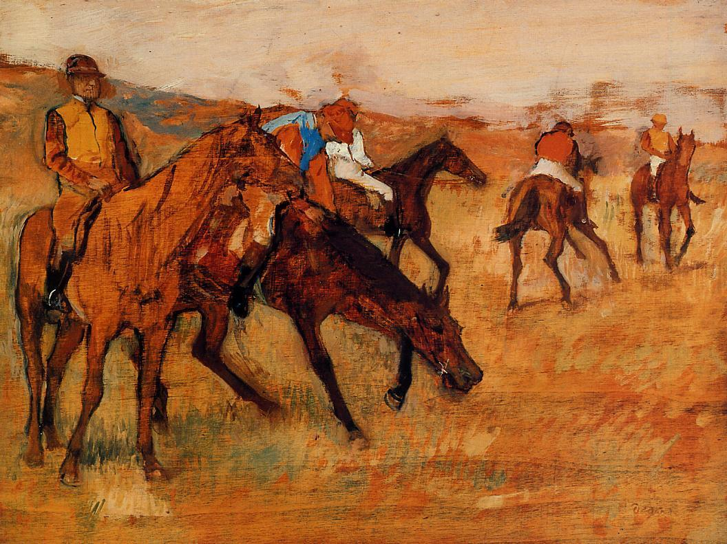Before the Race 1882-1884 | Edgar Degas | Oil Painting