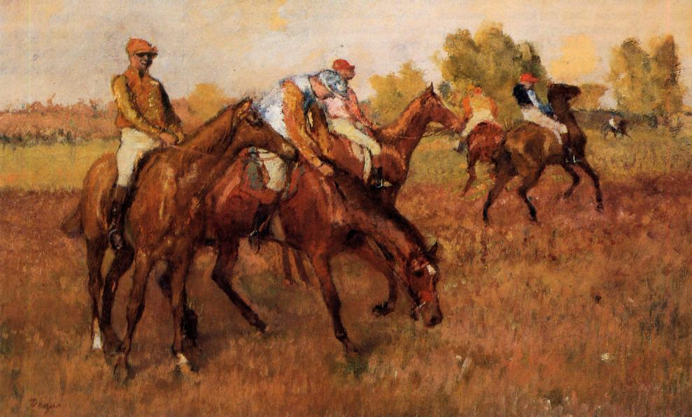 Before the Race 1882-1888 | Edgar Degas | Oil Painting