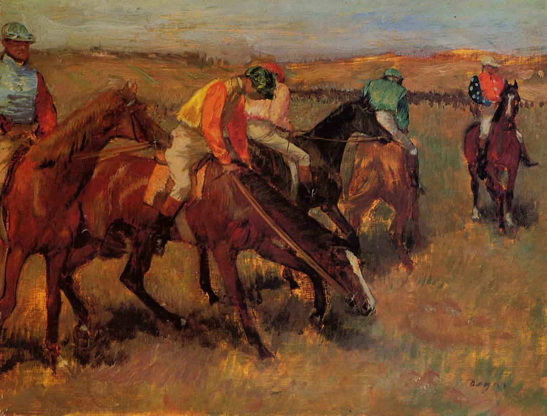 Before the Race 1882 | Edgar Degas | Oil Painting
